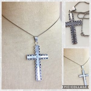 Vintage TAXCO Sterling Silver cross necklace 925